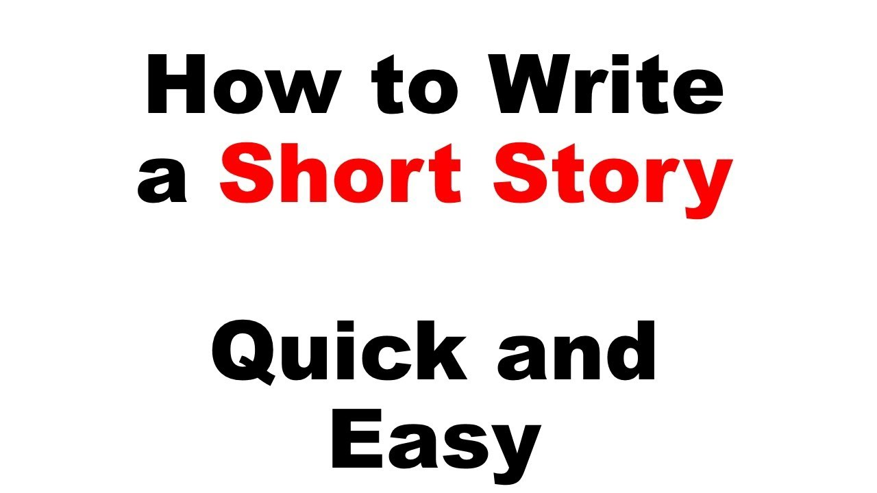 how to write a good short story essay